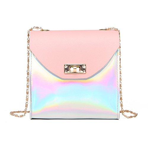 Crossbody Mini Chain Shiny Holographic Anlydia Pink Purse Bag Phone wB5t7qqP1