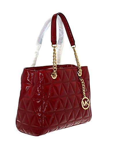 MICHAEL Michael Kors Women's Susannah Medium Tote Leather Handbag (Cherry) by MICHAEL Michael Kors