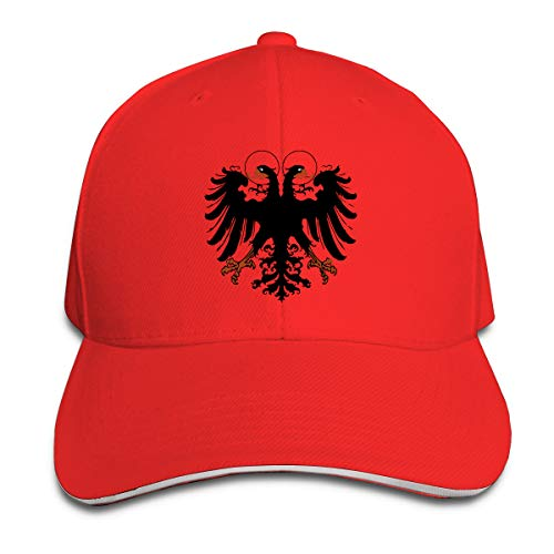 ONE-HEARTHR Adult Holy Roman Empire Cotton Lightweight Adjustable Peaked Baseball Cap Sandwich Hat Men Women