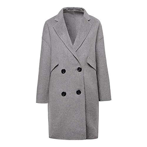 Donna Cappotti Cappotto Double Trench Giacche Caldo 02 Sottile Giacca Moda Lana Da Lunga E Tendenza Top sided Invernali Abbigliamento t1Ew1qr