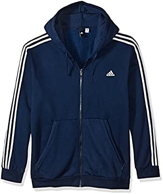 adidas Mens Essentials 3 Stripe Tall Sweatshirt in Grey Navy