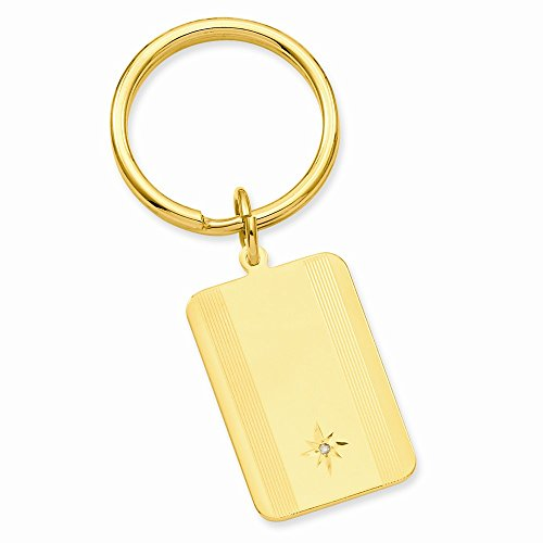 ICE CARATS Gold Plated Kelly Waters Star Cut .001ct. Diamond Key Band Ring Size Man Money Clip Wallet Fashion Jewelry Gift for Dad Mens for Him