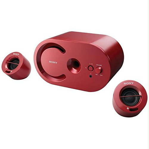 Sony PC 2.1 Speakers Red