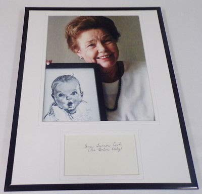 Ann Turner Cook Signed Framed 11x14 Photo Display Gerber Baby
