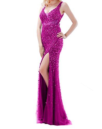 Abschlussballkleider Partykleider Pink Damen Sexy Steine Abiballkleider Etuikleider Damen Abendkleider Charmant Aq1UFU
