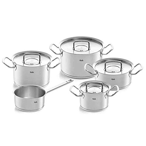 Fissler 5-teiliges Topfset Pure Profi Collection Edelstahl Kochgeschirrset Made in Germany 084-112-05-000/0