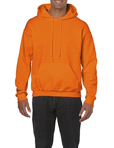 Heavyweight Sweat Hooded safety À 193 shirt Gildan Sweatshirt Homme Orange Capuche afqwF11