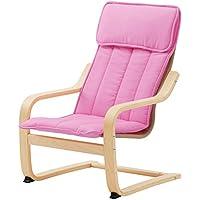 IKEA POANG Childrens Armchair, Birch Veneer, Almas Pink