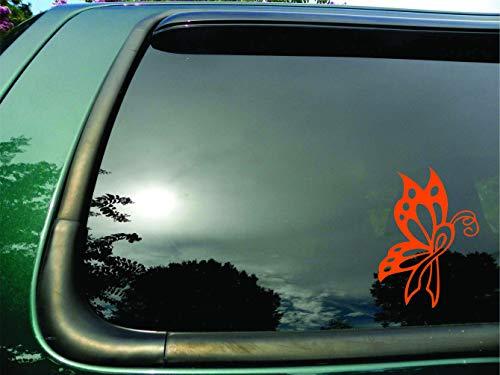 Butterfly Ribbon Orange Kidney Leukemia Cancer - Die Cut Vinyl Window Decal/sticker for Car or Truck 5