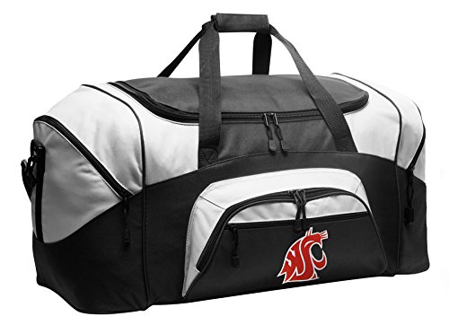Large Washington State Duffel Bag Washington State University Gym Bags or Suitcase by Broad Bay