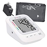 Home Blood Pressure Monitor - Upper Arm Blood Pressure Device with LCD Screen - Premium Home Health Gadget - FDA-Approved - Resistant Cuffs for Regular and Large Arms - Easy to Use & Read