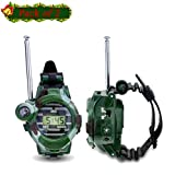 Walkie Talkies Watch, Walkie Talkies for Kids,7 in 1 Digital Walky Talky Watch, Two-Way Long Range Transceiver with Flashlight Camouflage Outdoor Army Toys, Best Outdoor,Kids Gifts for Christmas