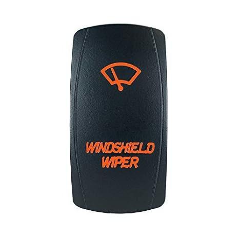 Laser con retroiluminación naranja Rocker Interruptor del limpiaparabrisas 20 A 12 V on/off LED luz STV Motorsports: Amazon.es: Coche y moto
