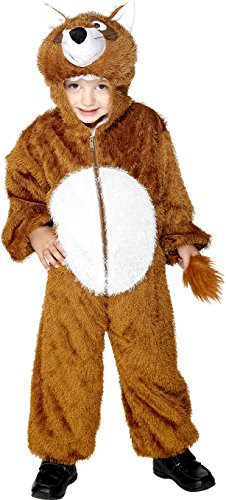 Smiffy's Fox Costume, Brown, Medium