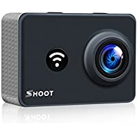 Lighten Action Camera 4K WiFi Outdoor 1080P Sports Cam 170°Wide View Angle