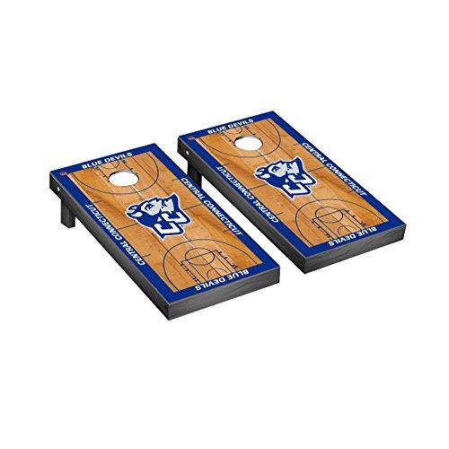 Central Connecticut State Blue Devils Regulation Cornhole Game Set Basketball Court Version