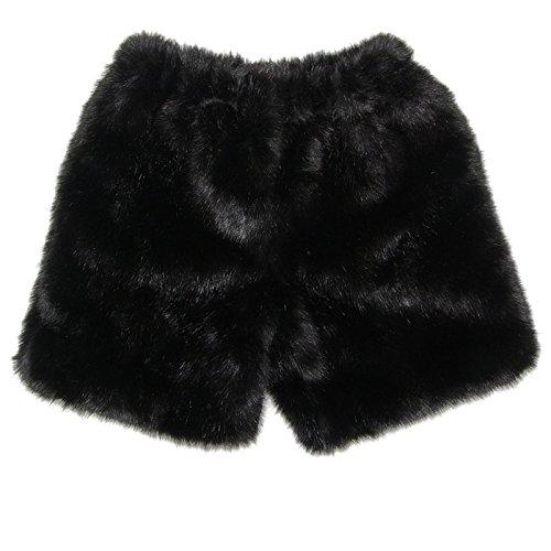 MinkgLove Fake Mink Boxers Silky Texture Feel, Fur Fly, Black - Single Sided Fur by MinkgLove
