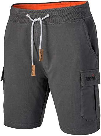 Mount Swiss Cargo shorts heren I Moderne katoenen bermuda shorts voor heren met 6 zakken klittenband resp ritssluiting I vrije tijd cargo broek heren kort in klassieke kleuren maat S6XL