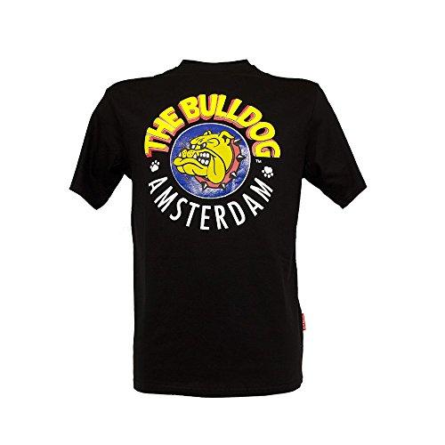 T-Shirt Maglia Cotone The Bulldog Amsterdam Girocollo Nera Taglia S Unisex