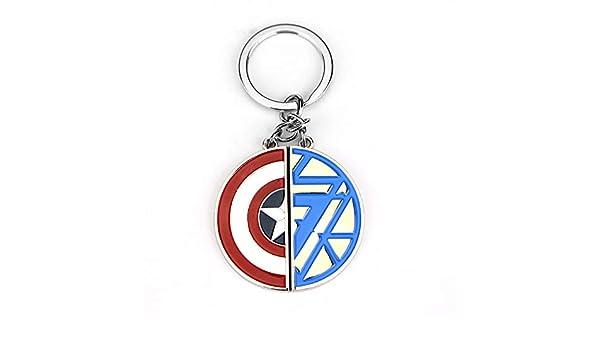 Los Vengadores Capitán América Y Iron Man Llavero Escudo ...