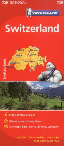 Michelin Switzerland Map 729 (Maps/Country (Michelin))
