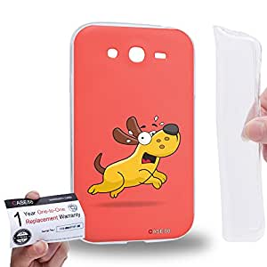 Case88 [Samsung Galaxy Grand Duos i9082 i9080] Gel TPU Carcasa/Funda & Tarjeta de garantía - Art Drawing Fear Doggie