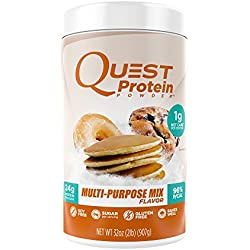 Quest Nutrition Protein Powder, Multi-Purpose Mix, 24g Protein, 1g Net Carbs, 96% P/Cals, 2lb Tub, High Protein, Low Carb, Gluten Free, Soy Free