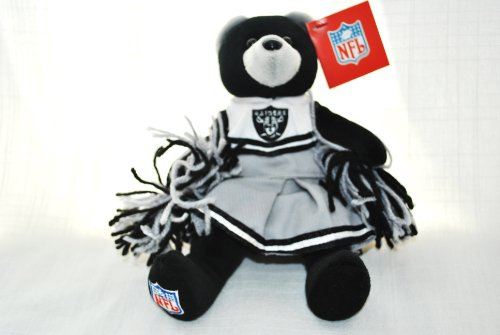 - OAKLAND RAIDERS OFFICIAL NFL CUTE 8IN FOOTBALL CHEERLEADER PLUSH TEDDY BEAR