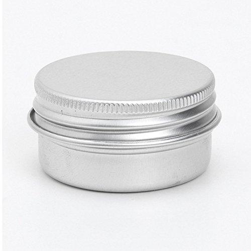 Contenedor de cosmeticos - SODIAL(R)20 x Bote de cosmeticos vacio Contenedor Tarro de aluminio de crema de labio Tapon de rosca 50ml