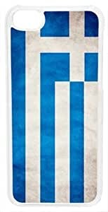 CellPowerCasesTM Greece Flag Case for iPhone 5c (Clear Case)