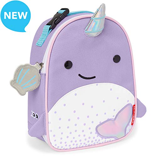 Skip Hop Zoo Kids Insulated Lunch Box Nova Narwhal, Multi, 0.3 Pounds