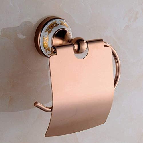 ZJN-JN ティッシュホルダー 浴室用 レトロローズゴールド紙タオルホルダー浴室ロールペーパーホルダートイレットペーパーは、キッチンロールディスペンサースタンド