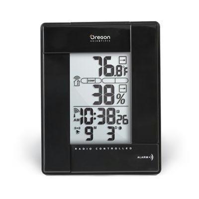 Oregon Scientific RMR383HGA/BLRBK Thermo Hygro Rf Clock by Oregon Scientific