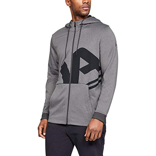 (Under Armour Men's Armour Fleece UA Full Zip Hoodie, Charcoal Light Heath (019)/Black, Medium)