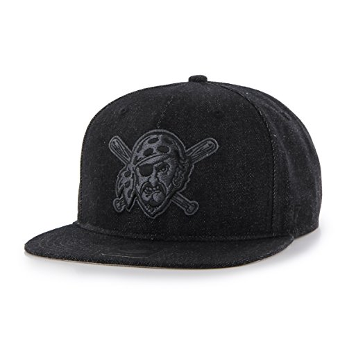'47 MLB Pittsburgh Pirates Nero Captain Adjustable Hat, Black, One Size