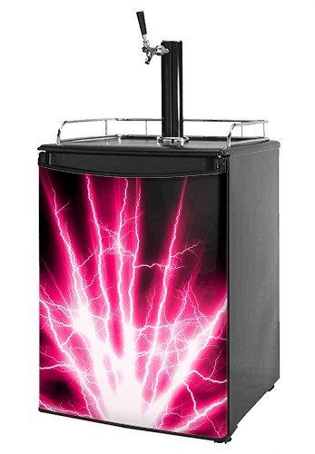 Kegerator Skin - Lightning Pink (fits medium sized dorm fridge and kegerators)