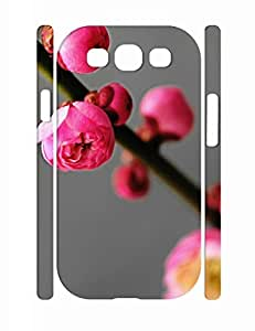 Simple Kawaii Flower Pattern Hard Plastic Samsung Galaxy S3 I9300 Cover Case