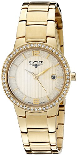 ELYSEE Women's 33046 Ladies-Edition Analog Display Quartz Gold Watch