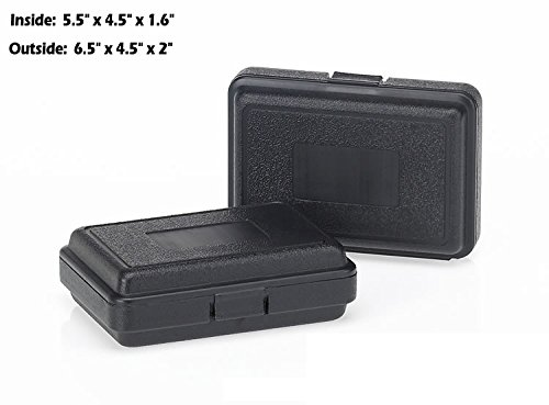 HUNSAKER USA: Hard Case Universal Storage Box (Inside Dimensions: 5.5'' x 4.5'' x 1.6'' - Black) by HUNSAKER USA