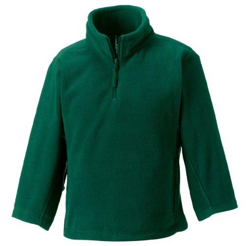 Jerzees Schoolgear Kinder 1/4 Zip Outdoor Fleece Flasche Grün 3-4 Yrs