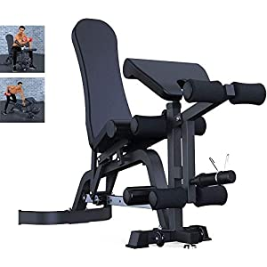 YZPTYD Adjustable Benches Foldable Weight Bench Commercial Gym Chair Sit-up Board Fitness Bench Exercise Equipment Multifunctional Fitness Machine,Sit Up Bench,Colour:Black