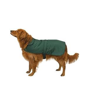 Casual Canine Polyester Fleece Barn Dog Coat, Small, Hunter Green