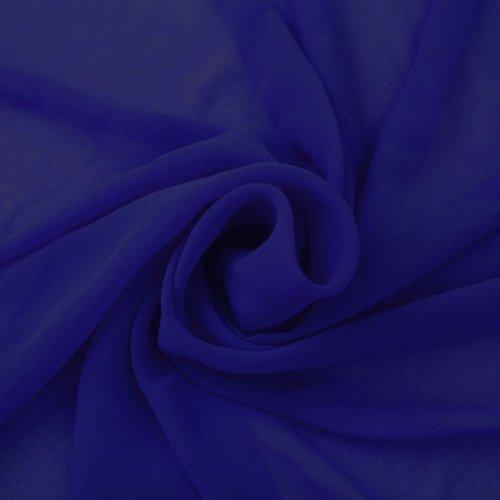 Royal Blue Solid Hi-Multi Chiffon Washed (Multi Chiffon Dress)