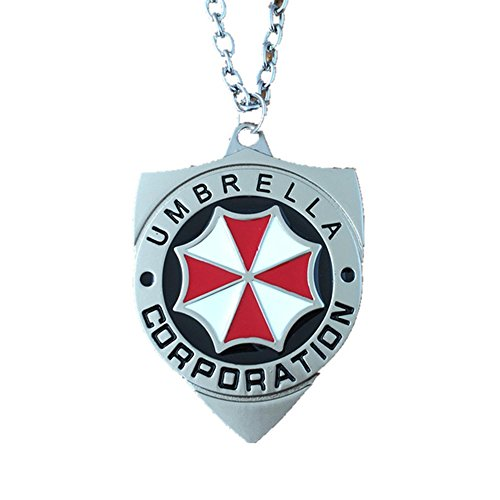 Athena Brands Resident Evil Umbrella Logo 18 Inch Necklace Gift Box Included]()