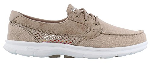 Skechers Performance Women's Go Step-Naval Boating Shoe,Taupe,8.5 M US