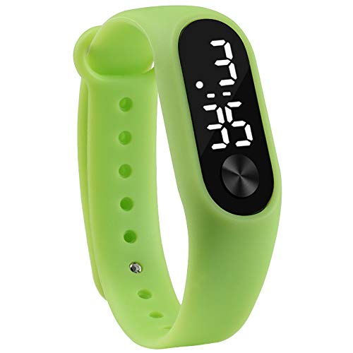 Fashion Men Women Casual Sports Bracelet Watches White Led Electronic Digital Candy Color Silicone Wrist Watch For Children Kids Digital Watches