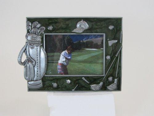 Golf Frame Photo (Navika PGA Golf Memorabilia Enamel and Pewter Photo Frame, Green, 2 1/2 x 3 1/2