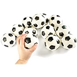 "Soccer Sports Stress Balls Bulk Pack of 12 Relaxable 2"" Stress Relief Soccer Squeeze Balls"
