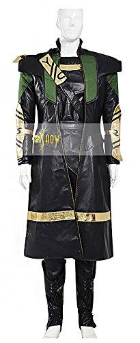 Mtxc Men's Avengers: Age of Ultron Cosplay Costume Loki Full Set Size XXX-large Black (Loki Avengers Costume)
