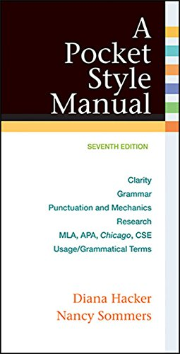 A Pocket Style Manual by University Diana Hacker (18-Mar-2015) Spiral-bound
